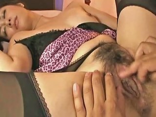 Hairy Japanese Stockings Girl Has Anal Sex